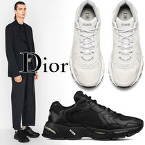Christian Dior Blended Fabrics Street Style Plain Leather Sneakers
