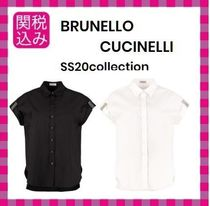 BRUNELLO CUCINELLI Plain Cotton Short Sleeves Shirts & Blouses