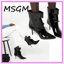 MSGM Plain Leather Pin Heels Party Style Elegant Style