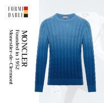MONCLER Crew Neck Long Sleeves Cotton Sweaters