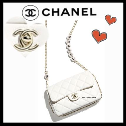 CHANEL MATELASSE Casual Style Lambskin 2WAY Plain Party Style Crossbody