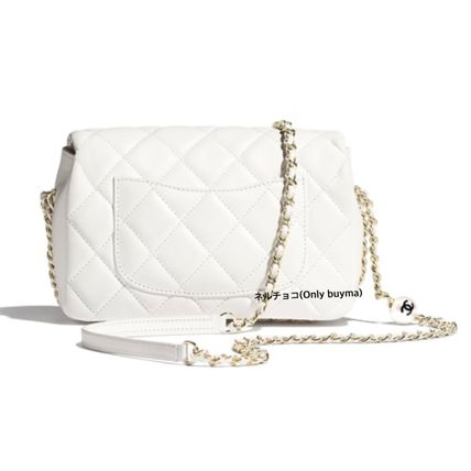 CHANEL Shoulder Bags Casual Style Lambskin 2WAY Plain Party Style Crossbody 3