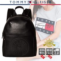 Tommy Hilfiger Casual Style Faux Fur Plain Logo Backpacks