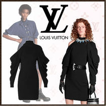 Louis Vuitton Casual Style Tight Wool Long Sleeves Plain Medium