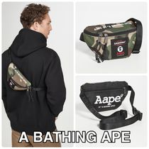 A BATHING APE Camouflage Casual Style Unisex Street Style Collaboration