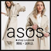ASOS Casual Style Plain Long Elegant Style Trench Coats
