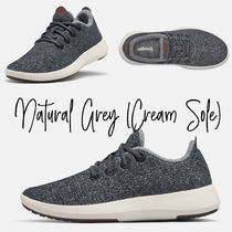 allbirds Runners Round Toe Lace-up Casual Style Plain Logo Low-Top Sneakers