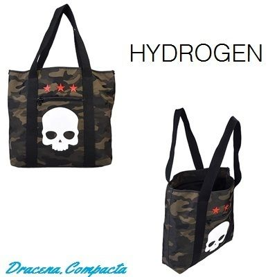 Skull Star Camouflage Street Style Logo Totes
