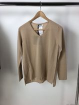 S Max Mara Cashmere V-Neck Long Sleeves Cashmere
