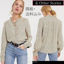 & Other Stories Dots Casual Style Long Sleeves Shirts & Blouses