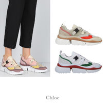 Chloe Round Toe Rubber Sole Casual Style Street Style Leather
