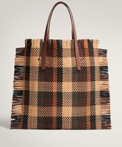 Massimo Dutti Casual Style A4 Leather Office Style Totes
