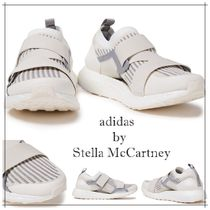 adidas by Stella McCartney Stripes Round Toe Rubber Sole Casual Style Bi-color