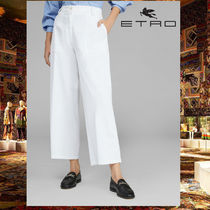 ETRO Plain Cotton Short Length Culottes