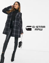 G-Star Other Plaid Patterns Casual Style Wool Long Office Style