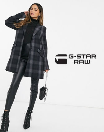 Other Plaid Patterns Casual Style Wool Long Office Style
