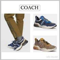 Coach Suede Street Style Plain Leather Sneakers