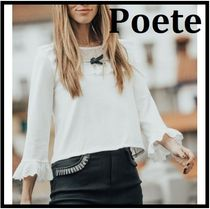Poete Casual Style Cropped Office Style Elegant Style