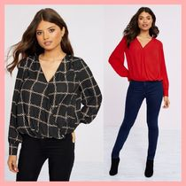 Lipsy Other Check Patterns Casual Style Long Sleeves Plain Medium