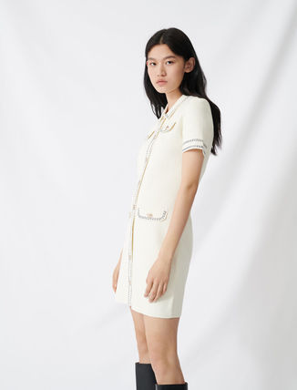 Short Sleeves Party Style Office Style Elegant Style
