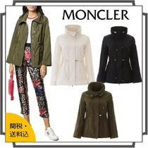 MONCLER Short Casual Style Blended Fabrics Street Style Bi-color