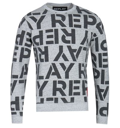 REPLAY Sweatshirts Crew Neck Long Sleeves Cotton Logo Sweatshirts