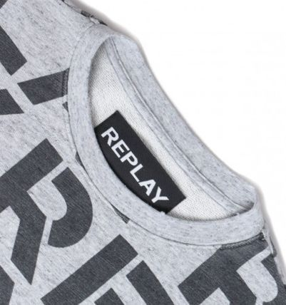 REPLAY Sweatshirts Crew Neck Long Sleeves Cotton Logo Sweatshirts 3