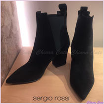 Sergio Rossi Casual Style Suede Plain Pin Heels Halloween