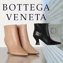 BOTTEGA VENETA Square Toe Casual Style Leather Party Style Office Style