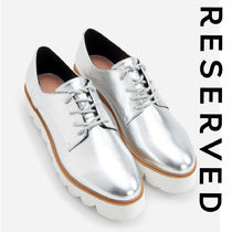RESERVED Platform Round Toe Casual Style Faux Fur Plain