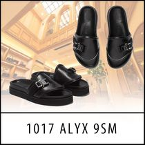 ALYX Unisex Street Style Plain Leather Shower Shoes