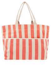 Accessorize Stripes Casual Style Canvas Blended Fabrics A4 Totes
