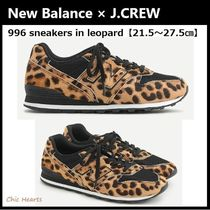 New Balance 996 Leopard Patterns Casual Style Collaboration Low-Top Sneakers