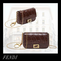 FENDI BAGUETTE Casual Style 2WAY Chain Other Animal Patterns Party Style