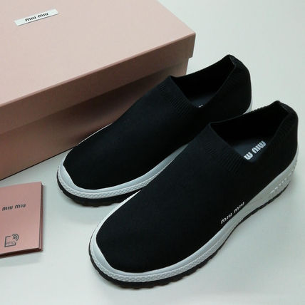 Casual Style Plain Logo Low-Top Sneakers