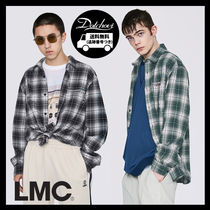 LMC Other Check Patterns Unisex Street Style Long Sleeves Cotton