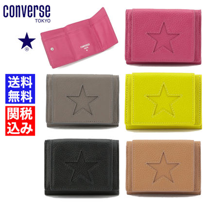 Star Unisex Leather Folding Wallet Small Wallet Logo