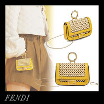 FENDI BAGUETTE Casual Style 2WAY Chain Plain Party Style Office Style