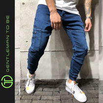 Gentleman To Be Street Style Plain Joggers Jeans