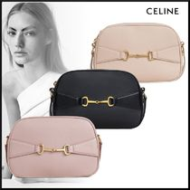CELINE Casual Style Lambskin 2WAY Leather Crossbody Logo Camera Bag