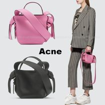 Acne Casual Style 2WAY Plain Leather Party Style Office Style