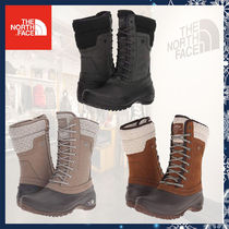 THE NORTH FACE Mountain Boots Round Toe Rubber Sole Lace-up Casual Style