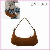 by FAR Casual Style Suede Plain Shoulder Bags