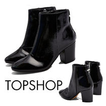 TOPSHOP Casual Style Faux Fur Plain Elegant Style Chunky Heels