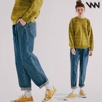 WV PROJECT Unisex Denim Street Style Cotton Oversized Jeans