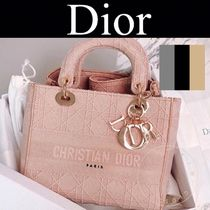 Christian Dior LADY DIOR Argile Casual Style Canvas Street Style 2WAY Handmade