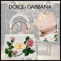 Dolce & Gabbana Flower Patterns Casual Style Blended Fabrics 2WAY