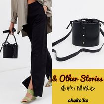 & Other Stories Studded Plain Leather Purses Bucket Bags