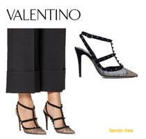 VALENTINO Studded Pin Heels Party Style Elegant Style