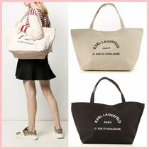 Karl Lagerfeld Casual Style Canvas A4 Plain Totes